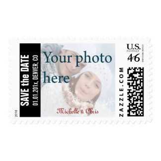 DIY photo save the date stamps