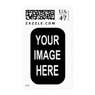 DIY Photo Stamp Narrow Oval Vertical Frame A05B