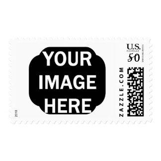 DIY Photo Stamp Ornate Edge Rectangular Frame A05