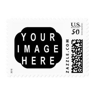 DIY Photo Stamp Ornate Horizontal Frame A08
