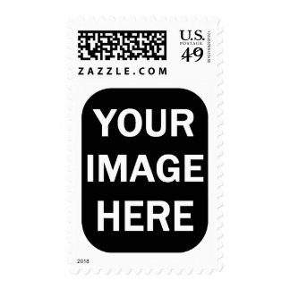 DIY Photo Stamp Rounded Edge Vertical Frame A05