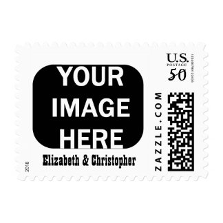 DIY Photo Stamp Rounded Edge Vertical Frame A06A