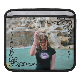DIY Photo Template Customized Celtic Vines Frame Sleeve For iPads