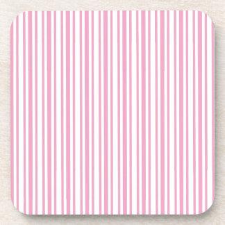 DIY Pink and White Stripe Ticking Custom Gift Item Coaster