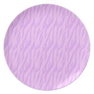 DIY Pink Zebra Print Design Your Own Zazzle Gift Dinner Plate