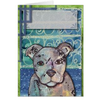 DIY  Pitbull Collage Greeting Card