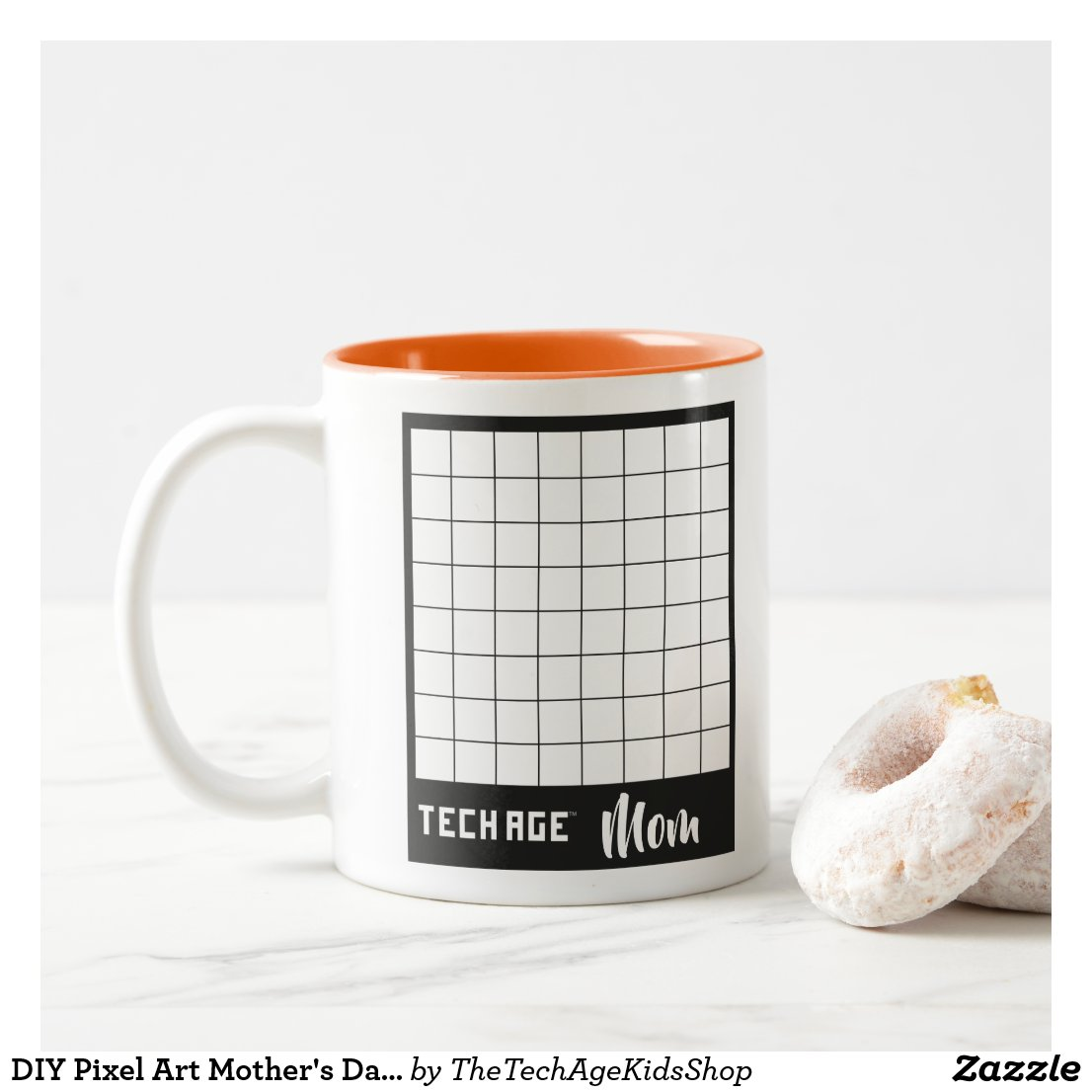 DIY Pixel Art Mother's Day Two-Tone Mug