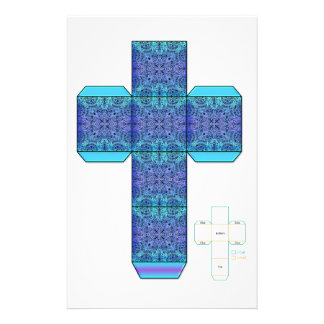 DIY- plantilla azul de la caja del diseño del Dood Papelería