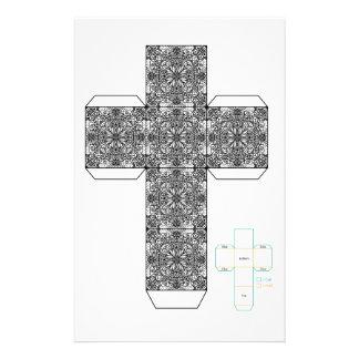 DIY- plantilla de la caja del diseño del Doodle Papelería De Diseño