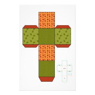 DIY- plantilla de la caja del diseño del otoño Papelería Personalizada