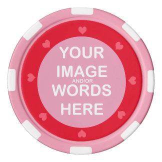 DIY ~ Poker Chips Pink Hearts