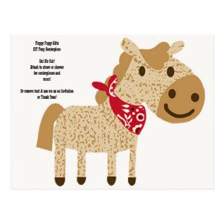 DIY Pony Cowboy Shower Cut Out Centerpiece - Postcards