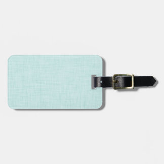 DIY Pop of Color Pale Mint Green Custom Luggage Tag