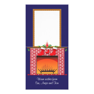 DIY Pop-up Fireplace & 3 Stockings Card