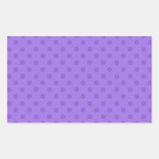 DIY Purple Polka Dot Background Zazzle Gift Rectangular Sticker