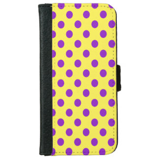 DIY Purple Polka Dots on Any Color iPhone 6/6s Wallet Case