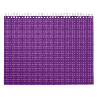 DIY Purple Square Pattern Design Your Own Zazzle Calendar