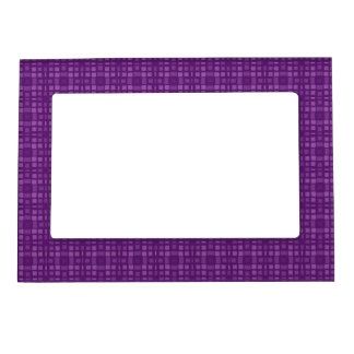 DIY Purple Square Pattern Design Your Own Zazzle Photo Frame Magnet