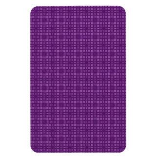 DIY Purple Square Pattern Design Your Own Zazzle Rectangular Photo Magnet