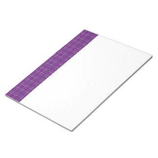 DIY Purple Square Pattern Design Zazzle Home Gift Scratch Pad