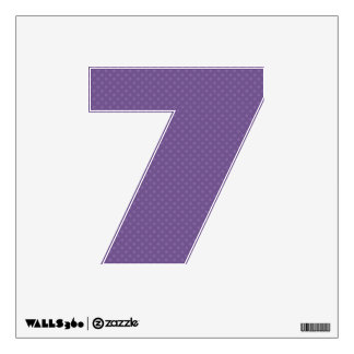 DIY Purple Tiny Polka Dots Make Your Own Number Wall Decal