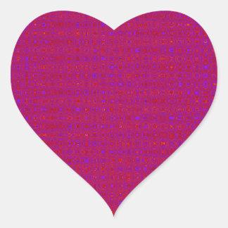 DIY Red Purple Gold Texture ADD light color TEXT Heart Sticker