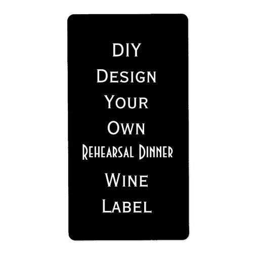DIY  Rehearsal Dinner Wine Label  Make It Now V09