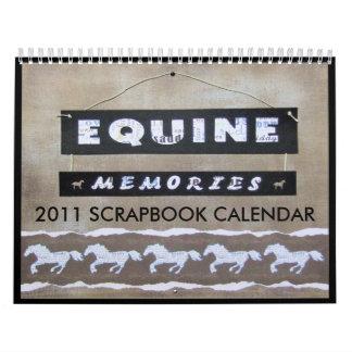 "DIY ""SCRAPBOOK"" 2011 HORSE CALENDAR"