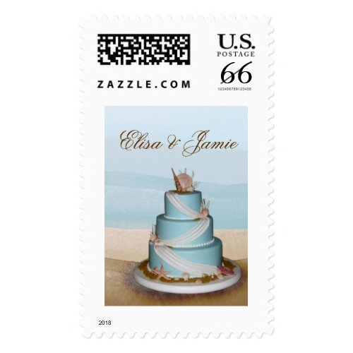 DIY Seashell Wedding Cake Stamps Stamp