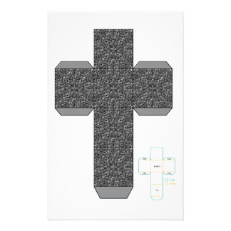 DIY- Silver Doodle Design Box Template Stationery