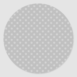 DIY Silver Gray Polka Dot Background Zazzle Gift Classic Round Sticker
