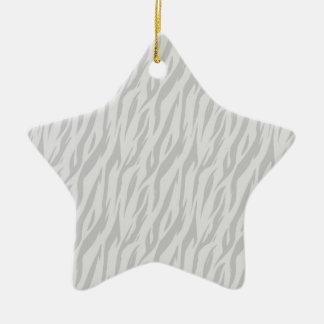 DIY Silver Zebra Print Make Your Own Zazzle Gift Ceramic Ornament