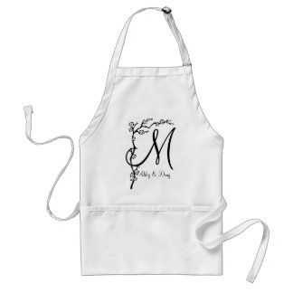 DIY Simple Cherry Blossom Branch Adult Apron