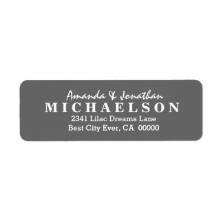 DIY Simple Style Wedding Text Design V06 GRAY Label