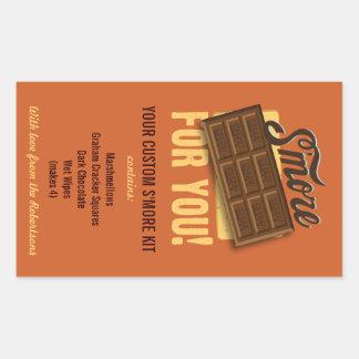 DIY Smores Kit Gift Label for Campers & Campfires Rectangular Sticker