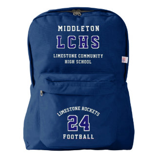 DIY Sport Number, Letter, Name and School American Apparel™ Backpack