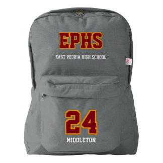 DIY Sport Number, Letter, Name and School Backpack
