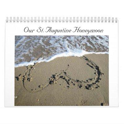DIY St. Aug Honeymoon Calendar