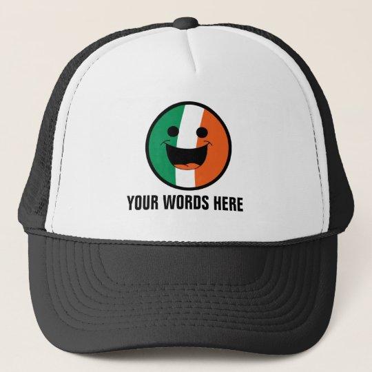 Hair Hatted Hooligans: DIY St Patrick Irish Flag Face Hooligan Trucker Hat