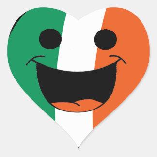 DIY St Patrick Irish Flag Smiley Face Hooligan Heart Sticker