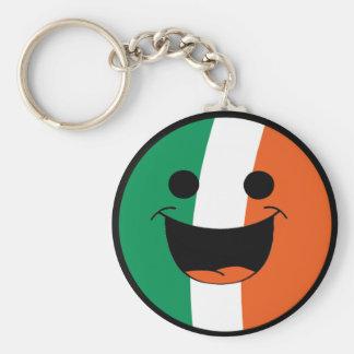 DIY St Patrick Irish Flag Smiley Face Hooligan Keychain