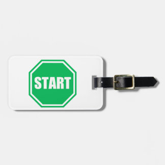 DIY St Patrick's Day Green party START sign Luggage Tag