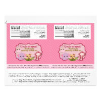 DIY Sweet Jungle Babies 1.55oz Candy Bar Wrappers Flyer