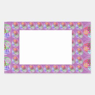 DIY Template Border Buy Blank Add Txt IMG  NVN187 Rectangular Sticker