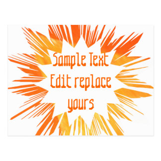 DIY Template: Edit Text Message Greeting Blessing Postcard