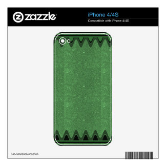 DIY Template Emerald Texture add TEXT IMAGE FUN 99 iPhone 4 Skin