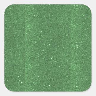 DIY Template Emerald Texture add TEXT IMAGE FUN 99 Square Sticker