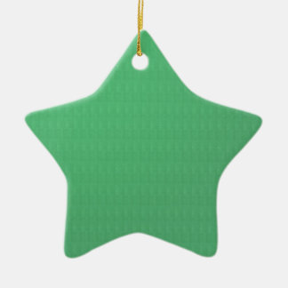 DIY Template GREEN Crystal Texture Add IMG TXT fun Double-Sided Star Ceramic Christmas Ornament