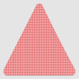 DIY TEMPLATE Pink Red Sparkle Pattern GIFTS Triangle Sticker