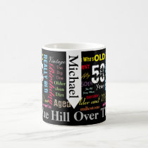 DIY Text | 50th Happy Birthday | Milestone Coffee Mug